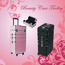 4in1 Hairdressing Nail Makeup Beauty Case Storage Cosmetic Trolley Box