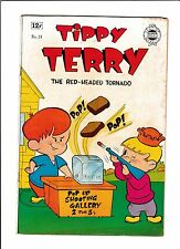 TIPPY TERRY  #14  [1960's VG+]  POP-UP SHOOTING GALLERY COVER!