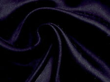 """EGGPLANT BLACK Very Light Feather weight 100% SILK SATIN Solid Fabric 54"""" W"""
