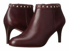 """NIB Women's COACH """"Holiday"""" Ankle Bootie, 9M, Brown Leather w/Gold Stud detail"""