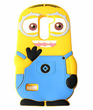For LG Optimus Zone 3 / K4 - Soft Rubber Silicone Skin Case Cover Yellow Minion