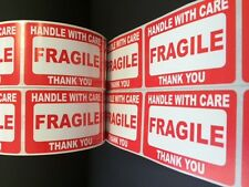 100 2x3 FRAGILE Stickers Self Adhesive Handle with Care Stickers Shipping Labels