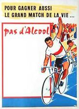 Original Vintage Poster Pas Dalcool Cycling Alcohol Bicycling 1950s French PSA