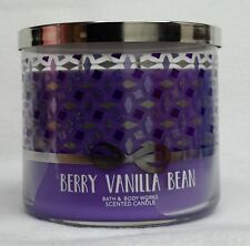 1 Bath & Body Works BERRY VANILLA BEAN 3-Wick 14.5 oz Scented Candle