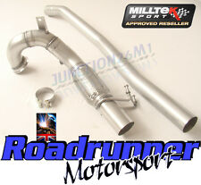 "Milltek SSXVW348 Golf MK7 R 3"" De Cat Downpipe & Connect Pipe Exhaust Fits To OE"