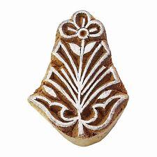 Indischer Holz Stempel braun Printing Block Floral Briefmarke dekorative Blöcke