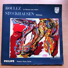 Boulez Stockhausen Le Marteau Sans Maître Nr. 5 Zeitmasse Vinyl LP Philips 1958