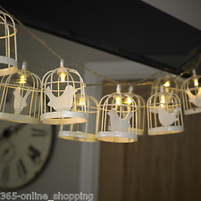 10x Deluxe Battery Operated Bird Cage Indoor Outdoor LED Fairy String LightsUK