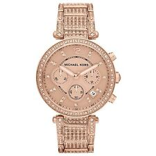 MICHAEL KORS Glam Parker Chronograph Rose Gold-Tone Ladies Watch MK5663