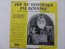 """25 cms 10"""" Les XV Mysteres du Rosaire Mysteres glorieux MARIE ROSE  CARLIE .."""
