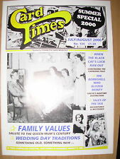 CARD TIMES MAGAZINE FORMERLY CIGARETTE CARD MONTHLY No 124 JULY / AUGUST 2000