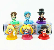Anime Sailor Moon Set 6PCS Mini Toy Figure Figurine Doll New In Box A#  vol.1