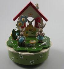 Spieluhr Erzgebirge Hasenfamilie Ostern