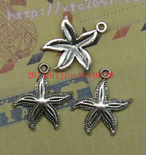 15pcs 25x23mm Retro Style ancient Tibet silver starfish alloy Charm pendant