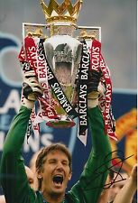Manchester united main signé edwin van der sar 12X8 photo.