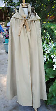 ANTIQUE CLOAK 1830's LONG CAMEL FELTED WOOL HOODED MUSEUM DE-ACCESSIONED