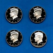 2012 S through 2015 S Clad Proof Kennedy Half Dollars-- FOUR COINS