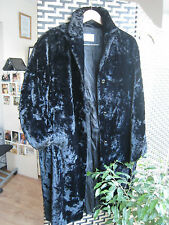 12 Betty Barclay luxury black crushed velvet coat amazing feel and weight !
