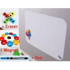 A4 Flexible Fridge Magnetic Whiteboard Memo Reminder Board Pen Eraser Magnet;