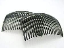 10 Black Plastic Hair Clips Side Combs Pin Barrettes 82X50mm for Ladies