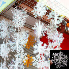 30Pcs Classic 11cm White Snowflake Ornaments Christmas Holiday Party Home Decor
