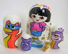 5pcs Hand Painted Russian Nesting Doll of Dora The Explorer Large