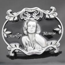 Men Western Silver Marilyn Monroe Norma Jean Cowboy Enamel Belt Buckle Gift