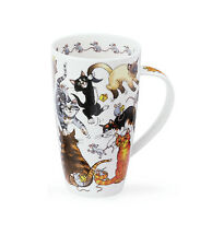 Stunning Cat Lover 'Pussy Galore' Dunoon Fine Bone China Large Mug Henley Style
