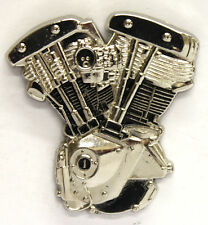 NEW Harley Davidson Shovelhead Motor Enamel Pin Badge from Fat Skeleton