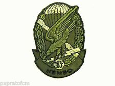 Patch Folgore 183 Rgt Paracadutisti Nembo Verde Toppa per Mimetica Vegetata Mili