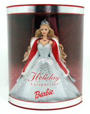 New In Box 2001 Holiday Barbie Doll Collector Edition Blonde Silver Dress