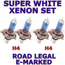 FITS MERCEDES E CLASS 200 1993-1995  SET  H4  H4 XENON SUPER WHITE  LIGHT BULBS