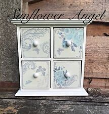 Small shabby chic butterfly chest of draws, for jewellery or bits and bobs