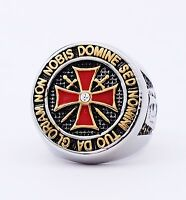 Masonic Freemason Knight Templar Ring College Style SILVER Color Stainles Steel
