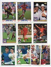 WORLD CUP USA 94 AND US CUP 93 SOCCER CARD LOT GRUN, BERGKAMP, KIOPAS, DOOLEY...