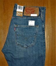 NWT LEVIS 501 ORIGINAL STRAIGHT LEG BUTTON FLY JEANS MEDIUM BLUE 33 x 32