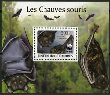 COMORES 2009 BATS  WWF  DELUXE SET OF FOUR S/S MINT NH