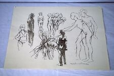 John Francis Williams Study of Nudes Canadian Painting NR