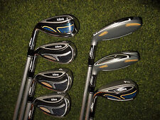 LADIES LEFT HAND ADAMS GOLF CLUBS IDEA IRON AND HYBRID SET  WOMEN'S FLEX AWESOME