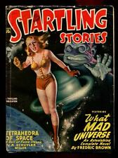 Pulp Magazine STARTLING STORIES September 1948 What Mad Universe, Fredric Brown