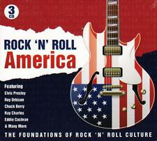 ROCK `N` ROLL AMERICA  - 75 TRACKS - VARIOUS ARTISTS (NEW SEALED 3CD)