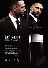 Derek Jeter 2-page clipping 2007 ad for Avon Driven Black