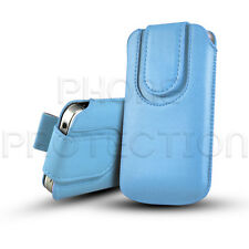 MAGNETIC CLOSE LEATHER PULL TAB CASE COVER POUCH FOR VARIOUS PHONES