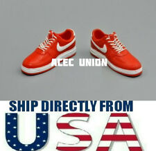 1/6 NIKE Style Men Sneakers RED WHITE Color For Hot Toys Figure - U.S.A. SELLER
