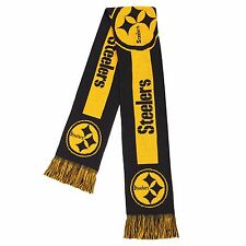 Pittsburgh Steelers Scarf Knit Winter Neck - Double Side Big Team Logo New 2016