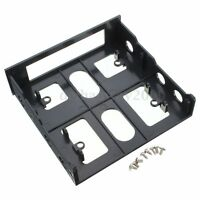 PC 3.5'' Floppy/Hard Drive to 5.25'' Front Bay Bracket Converter Strong Durable