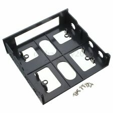 Hot PC 3.5'' Floppy/Hard Drive to 5.25'' Front Bay Bracket Converter Easy Use