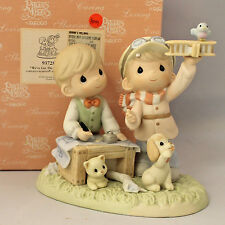 Precious Moment Figurine, 937282 We've Got The Right Plan, 937282 w/box