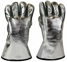 ALUMINIZED HEAT RESISTANT GLOVES FOR MELTING GOLD SILVER COPPER BRASS COPPER 13""