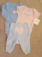 NEW! CARTER'S 3 MONTH SWEETHEART OWL 3PC OUTFIT ADORABLE